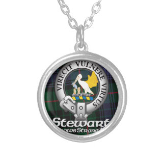Stewart Clan Silver Plated Necklace