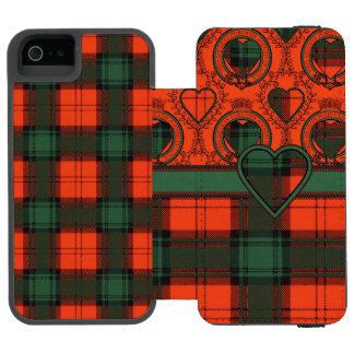 Stewart del tartán del escocés de la tela escocesa funda billetera para iPhone 5 watson