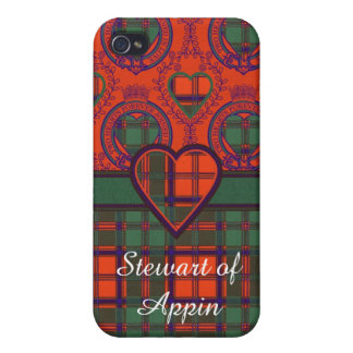Stewart del tartán del escocés de la tela escocesa iPhone 4/4S carcasas