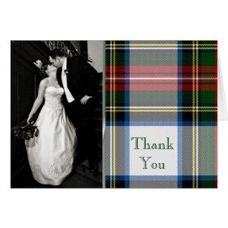 Stewart Dress Plaid Photo Thank You Card