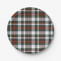 Stewart Dress Tartan Plaid Paper Plate