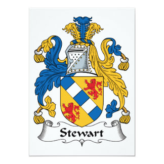 Stewart Family Crest Invitations