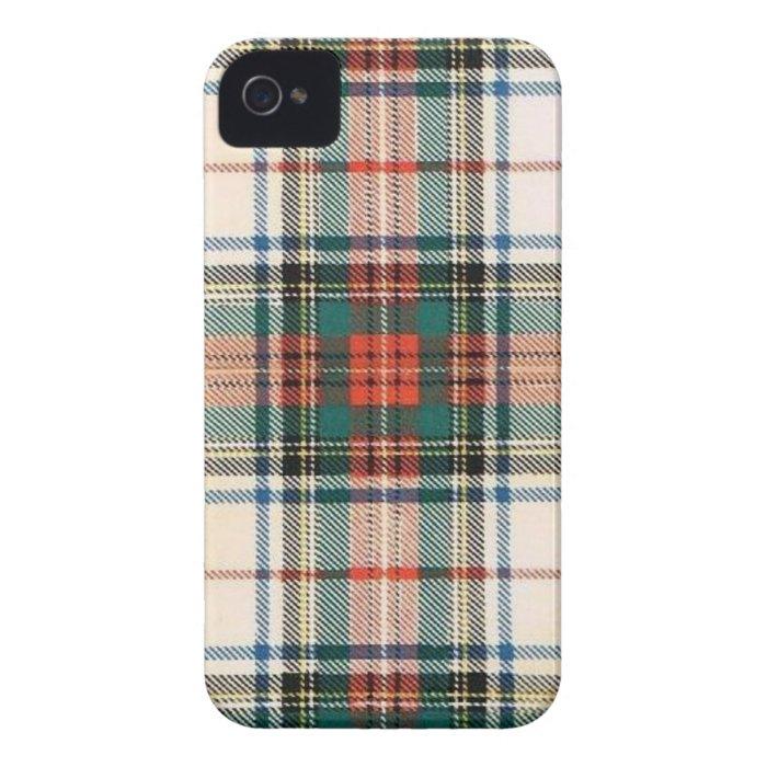 STEWART FAMILY DRESS TARTAN iPhone 4 CASE