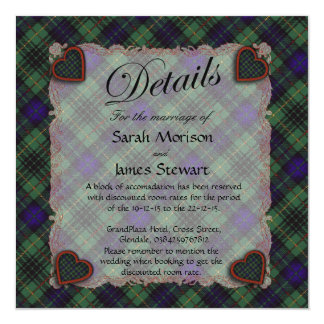 Stewart Hunting Scottish clan tartan - Plaid Card