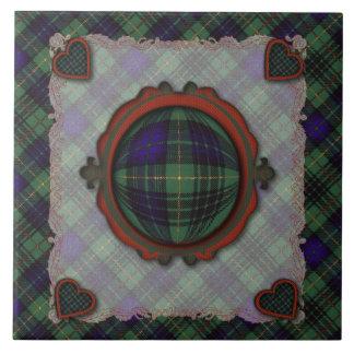 Stewart Hunting Scottish clan tartan - Plaid Ceramic Tile