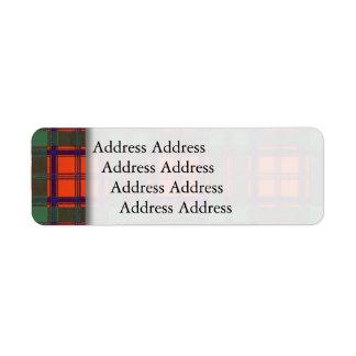 Stewart of Appin clan Plaid Scottish tartan Label