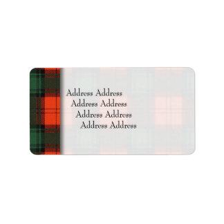Stewart of Atholl clan Plaid Scottish tartan Label