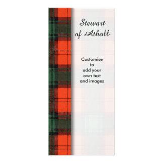 Stewart of Atholl clan Plaid Scottish tartan Rack Card