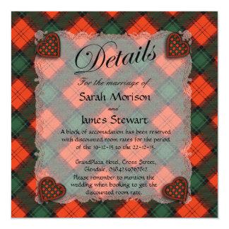 Stewart of Atholl Scottish clan tartan - Plaid Card