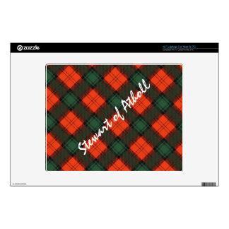 """Stewart of Atholl Scottish Kilt Tartan Decal For 12"""" Laptop"""