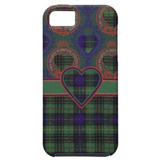 Stewart que caza el tartán escocés del clan - tela funda para iPhone 5 tough