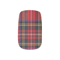 Stewart Red Tartan Pattern Minx Nail Art