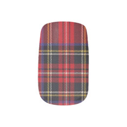 Stewart Red Tartan Pattern Minx Nail Art