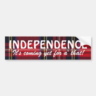 Stewart Tartan Scottish Independence Sticker Car Bumper Sticker