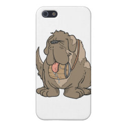 Case Savvy iPhone 5 Matte Finish Case with Saint Bernard Phone Cases design