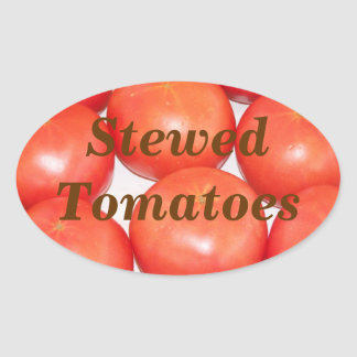 Stewed Tomatoes in a Jar  Fruit Label Stickers