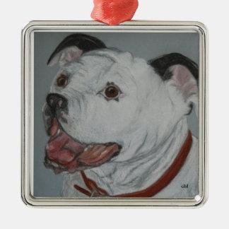 Stewie Pitbull Metal Ornament
