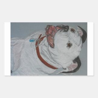 Stewie Pitbull Rectangular Sticker