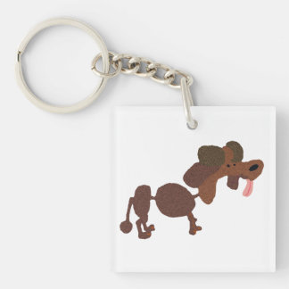 Stewie The Poodle Single-Sided Square Acrylic Keychain