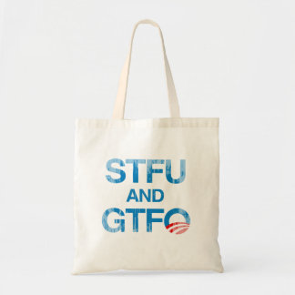 STFU AND GTFO Faded.png Tote Bags