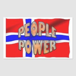 Sth African FLAG People Power Speak Out Motivation Rectangular Sticker
