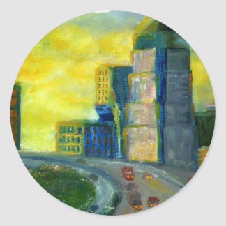 Sthreveport, Louisiana: An Abstract of Downtown Classic Round Sticker