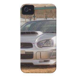 STi de Subaru Impreza - Equipo del cuerpo (plata) iPhone 4 Cárcasas