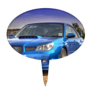 """STi """"Hawkeye"""" de Subaru Impreza en azul Figuras Para Tartas"""