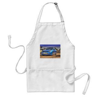 "STi ""Hawkeye"" de Subaru Impreza en azul Delantal"