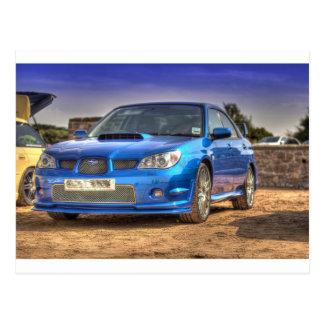 """STi """"Hawkeye"""" de Subaru Impreza en azul Tarjeta Postal"""