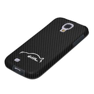STI Impreza Drift  w/Faux Carbon FIber Background Galaxy S4 Case