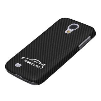 STI Impreza w/Faux Carbon FIber Background Samsung Galaxy S4 Cases