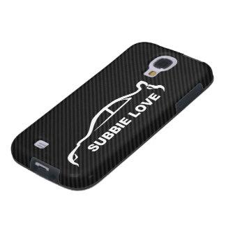 STI Impreza w/Faux Carbon FIber Background Galaxy S4 Case