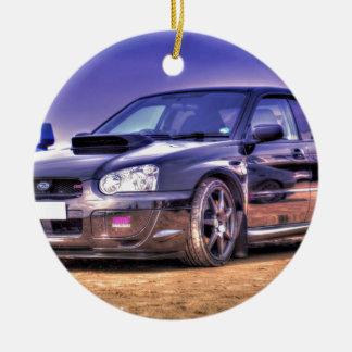 STi negro de Subaru Impreza WRX Adorno