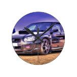 STi negro de Subaru Impreza WRX Relojes De Pared