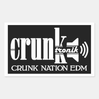 STICER- CRUNK NATION EDM RECTANGULAR STICKER