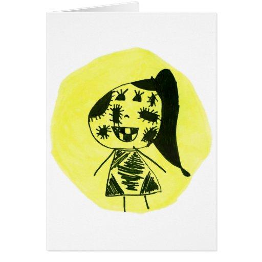Stich Girl Greeting Card