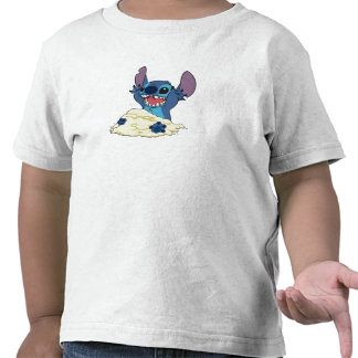 Stich Playing in Sand Disney Shirt