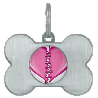 Stiched Broken Heart vector Pet ID Tag