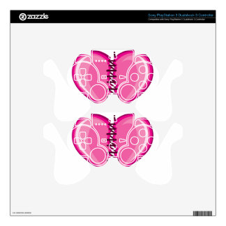 Stiched Broken Heart vector Skin For PS3 Controller
