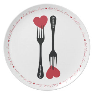 Stick a Fork in My Heart Couples Plate