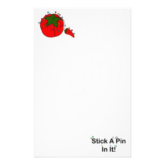 Stick A Pin In It! (Sewing Tomato) Stationery