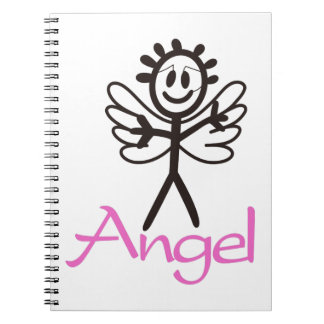 Stick Angel Spiral Notebook