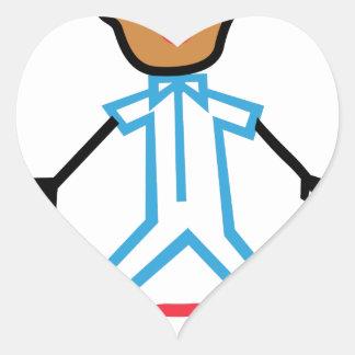 Stick Baby Boy Heart Sticker