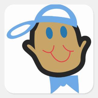 Stick Baby Boy Square Sticker