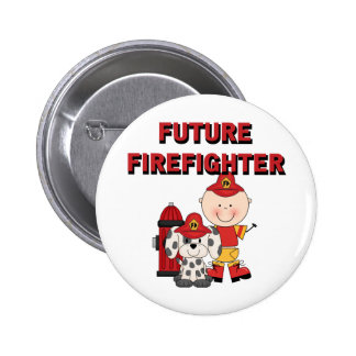 Stick Baby Future Firefighter Tshirts and Gifts Button