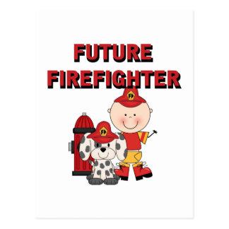 Stick Baby Future Firefighter Tshirts and Gifts Postcard