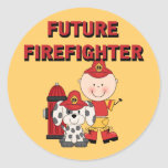 Stick Baby Future Firefighter Tshirts and Gifts Stickers