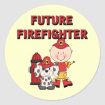 Stick Baby Future Firefighter Tshirts and Gifts Sticker