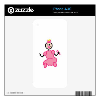 Stick Baby Girl Decals For The iPhone 4